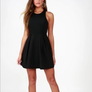 NWT Lulu's Cutout and About Black Skater Dress